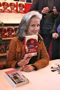 Tatiana de Rosnay is the French author who wrote Sarah's Key. .#BeautifulSilverHair