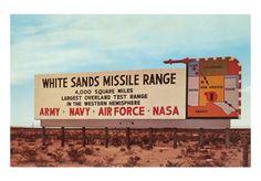 White Sands Missile Range - New Mexico.
