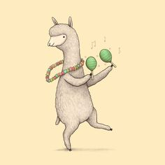 Draw Animals Alpaca on Maracas Poster - Alpacas, Llama Face, Llama Llama, Llamas Animal, Alpaca Drawing, Llama Arts, Fantasy Mermaids, Watercolor Animals, Animal Drawings