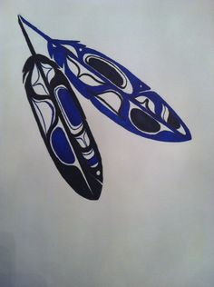 Haida Eagle Feathers by on DeviantArt Native American Design, Native Design, American Indian Art, Feather Art, Feather Painting, Tattoo Mere Fille, Haida Tattoo, Native Tattoos, Eagle Feathers