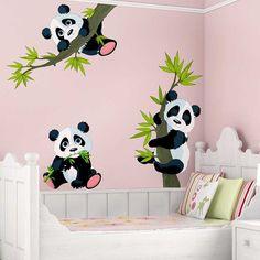Lieblich Wandtattoo Pandabären Ist Eine Zauberhaftes Wandtattoo Mit Kleinen Süßes  Pandas Auf Ästen. Ein Tolle Dekomöglichkeit