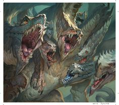 Magic the Gathering — Hydra's Unified Lunge final by Jesper Ejsing