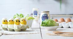 Estos huevos rellenos con forma de pollito tan divertidos son un plato ideal para preparar con los peques en la cocina. Son muy fáciles de elaborar y además de gustarles a los niños por su apariencia, les va a encantar su sabor, ya que los hemos preparado con la nueva 'Mayonesa Heinz Realmente Deliciosa', que […]