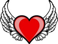 Great free clipart, png, silhouette, coloring pages and drawings that you can use everywhere. Logo Wings, Heart With Wings Tattoo, Heart Wings, Angel Wings, Angel Heart, Cupid Love, Heart Tattoo Designs, Love Spells, Love Images