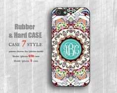 Rubber Iphone 4 case  Monogram classic floral Iphone by case7style, $7.50