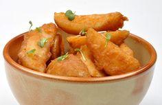 Ovnbagte kartofler med cremet tilbehør