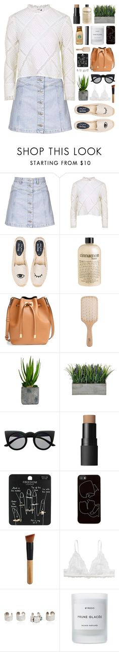 """""""Good girls are bad girls that haven't been caught."""" by novalikarida ❤ liked on Polyvore featuring Topshop, Soludos, philosophy, Michael Kors, Philip Kingsley, Laura Ashley, Retrò, NARS Cosmetics, Zero Gravity and Monki"""