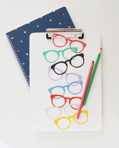 Pencil Shavings Studio Glasses Clipboard