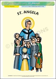 St. Angela started out as a member of the Third Order of St. Francis, before founding the Company of St. Ursula in 1535 - Poster A3 (STP1055)