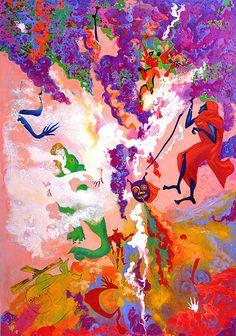 Anastasia Russa. Crash of the plane. 200x140cm. Canvas, oil, 2015.