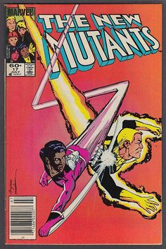 The NEW MUTANTS #17 Marvel comic book 7 1984
