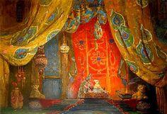 Leon Bakst, Set design for Scheherazade (Scheherezade bedroom)