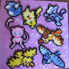 Pokemon perler beads!