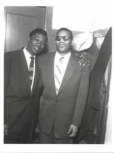 B.B. King and Ray Charles. Memphis, 1957. By Ernest Withers.