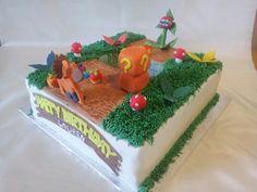 ❤ Crash bandicoot cake