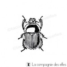 Tampon encreur scarabée, la cie des elfes. #lacompagniedeselfes #rubberstamp #insects