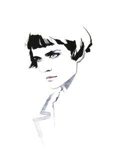 18 ideas for fashion illustration face sketches david downton Fashion Illustration Face, Illustration Mode, Fashion Illustrations, Mode Collage, Image Deco, David Downton, Face Sketch, Illustrations And Posters, Design Illustrations