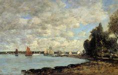 Bay of Plougastel - Eugene Boudin