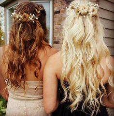 Best friend homecoming hair