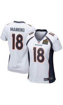 NFL Women's Denver Broncos Peyton Manning White Super Bowl 50 Bound Game Jersey #peytonmanning #superbowl50 #womenjersey