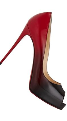 Christian Louboutin ~ 'So Kate' Degrade Red Sole Pump. Red/Black 2015