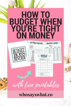 How to make a budget binder with free printable budget boss binder! Learn how to take control of your finances so you never miss another bill payment again with the 3 step budget system! Once you have implemented this system, use our budget boss binder to Budget Binder, Monthly Budget, Budgeting System, Budgeting Tips, Dave Ramsey, Nutrition Education, Planning Budget, Financial Planning, Budget Plan