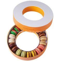 Círculo/caixa de cartão redonda para o empacotamento do chocolate/empacotamento dos doces/embalagem de Macaron (TW-CHB0027)