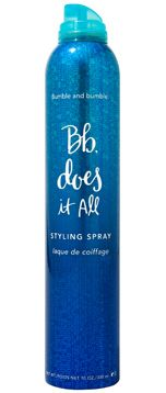 Bumble and Bumble Does It All ... The ultimate session working spray - it gives light hold and subtle degrees of control, plus it helps hair respond to heat tools and gives grip for easier styling.