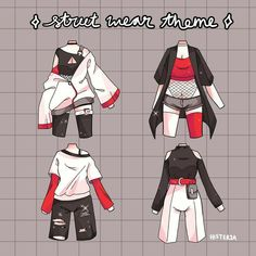Cute Art Styles, Cartoon Art Styles, Fashion Design Drawings, Fashion Sketches, Anime Outfits, Cute Outfits, Drawing Anime Clothes, Manga Clothes, Jugend Mode Outfits