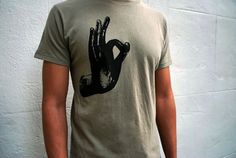 Mudra t-shirt - Mens Medium -  Organic Cotton, Printed and Ready to Ship on Etsy, Sold