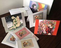 "Meli's Original Art Studio 5"" x 7"" GREETING Cards: SET of 2"