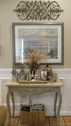 country beach decor | Beach cottage, country decor, table | Home where the heart is...