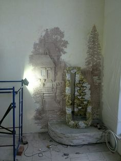 Plaster Art, Plaster Walls, Plastering, Concrete Wood, Stencil Painting, Room Themes, Wall Sculptures, Textured Walls, Wall Design