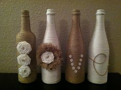 Decorative Twine Wine Bottles by NorthwestdesignsbyHH on Etsy