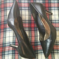 Bcbg BG-OLLEE leather heels Gently worn! Very little sign of wear -- pictured. Very good used condition!  Bundle for best deals!! Lots of items available starting at $5!!! BCBGeneration Shoes Heels