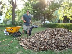 """the """"very expensive"""" leaf shredder... """"making mulch"""""""