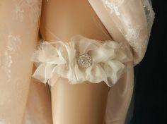 wedding garter, bridal garter, garter, garters, rhinestone garter, elastic garter, chiffon garter, shabby garter, bride garter, design color