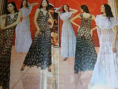 Lace jacket dress top skirt cardigan Crochet patterns by sneg78, $4.98