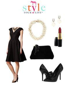 classic little black dress outfit