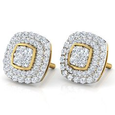 Find a great collection of Diamond Earrings at Sheetal Diamonds. Enjoy at wholesale price on Diamond Earrings products. Studs Earrings, Round Cluster Diamond Stud Earring