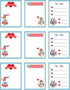 Love Owl Precut Sticker Perfect For Erin Condren by Stickerlovers