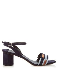Geometric block-heel suede sandals | Peter Pilotto | MATCHESFASHION.COM