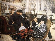 James Jacques Joseph Tissot The Last Evening Oil on canvas, Guildhall Art Gallery, London. James Joseph, Beaux Arts Paris, Munier, Painting Prints, Art Prints, Oil Painting Reproductions, Art Uk, Old Master, Impressionist