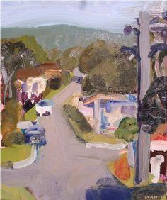In The Hills by John Bokor oil on board 2010