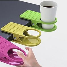 Creative Table Glass Clip Cup Holder Big Clip Kitchen Table Tableware (Random Color)3-pcs – USD $ 9.99