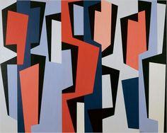 """""""Totem Group IV"""" by Karl Benjamin - 1957"""