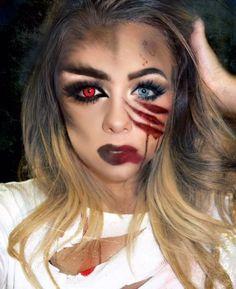 halloweenmakeup werewolf attack ig beautyxjenna halloween - Wolf Makeup Halloween