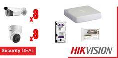 8 κάμερες παρακολούθησης HIKVISION DS-2CE56C0T-IT3F τύπου DOME  8 κάμερες ασφαλείας HIKVISION DS-2CE16C0T-IT3F τύπου BULLET  Καταγραφικό HIKVISION DS-7116HGHI-F1 16 καναλιών  1 Τροφοδοτικό καμερών PULSAR  Σκληρό δίσκο WD 2 Tb χωρητικότητας Usb Flash Drive, Electronics, Consumer Electronics, Usb Drive