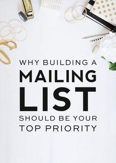 List building tips   Email marketing   business tips   blogging tips