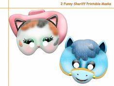 We Offer You: Special and Unique Happiness!  We guarantee that you, and your family when buying our Unique 2 Funny Sheriff Callie Printable Masks Sheriff Callie Characters, Printable Masks, Printables, Sherif Callie, Cow Mask, Sheriff Callie Birthday, Kids Dress Up, Singing Happy Birthday, Draw On Photos